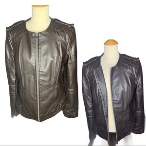 Express Chocolate Quilted Leather Jacket